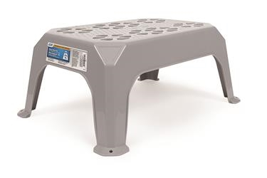 PLASTIC STEP STOOL, GREY LARGE