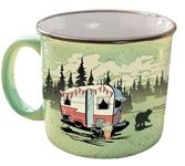 CAMPING RV TRAVEL MUG CUP  BEARY GREEN