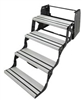 ALUMINUM 4 STEP ENTRY STEPS LIGHTWEIGHT