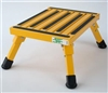 "SAFETY STEP STOOL 14""L X 11""W, YELLOW"