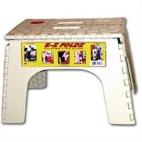 EZ FOLDZ STEP STOOL - WHITE