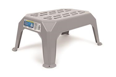 PLASTIC STEP STOOL, GREY SMALL
