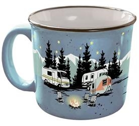 CAMPING RV TRAVEL MUG CUP  STARRY NIGHT