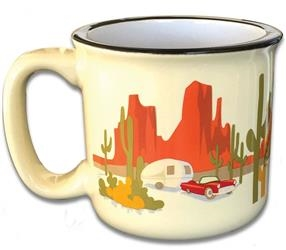 CAMPING RV TRAVEL MUG CUP DESERT DREAMING