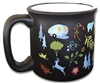 CAMPING RV TRAVEL MUG CUP INTO THE WOODS