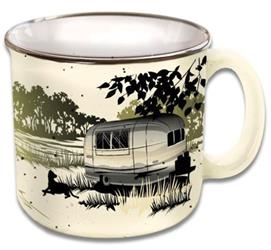 CAMPING RV TRAVEL MUG CUP PAWS AND RELAX