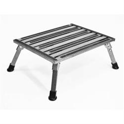 FOLDING STEP STOOL SILVER