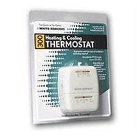 WALL THERMOSTAT HEAT/COOL WHITE