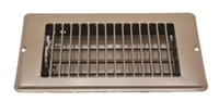 "HEATING COOLING FLOOR REGISTER VENT 4"" X 8"" BROWN"
