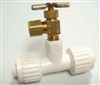"1/2"" X 1/8"" TEE WITH BRASS VALVE"