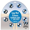 "GM/CHEVY LUG NUT COVERS, 1"" CD/8"