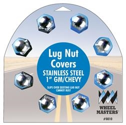 "LUG NUT COVERS 1"" GM CHEVY, 8010"