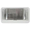 LED PORCH LIGHT WHITE BASE NO SWITCH CLEAR LENS COMPLETE