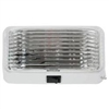 LED PORCH LIGHT WHITE BASE WITH SWITCH CLEAR LENS COMPLETE