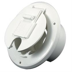 ELECTRICAL ROUND CABLE HATCH WHITE