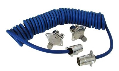 4 WAY WIRE COILED ELECTRICAL ADAPTER CORD, 164