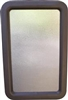 "RV ENTRY DOOR GLASS BLACK FRAME 12"" X 21"""
