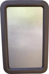 "ENTRY DOOR WINDOW GLASS BLACK FRAME 12"" X 21"", A77051"