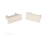 PLEATED SHADES RAIL ENDS 2PK