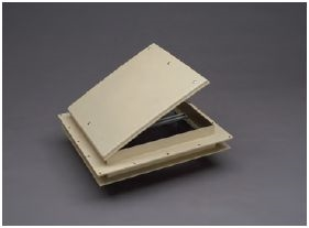 "MINI 9"" X 9"" ROOF VENT, COLONIAL WHITE"