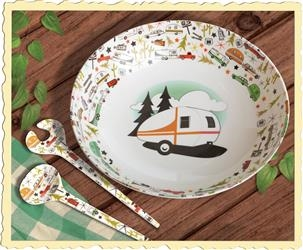 CAMP CASUAL CAMPING SERVING BOWL AND SERVER SET