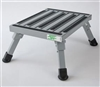 "SAFETY STEP STOOL 14""L X 11""W, SILVER"